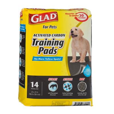 Glad for Pets Activated Carbon Training Pads for Puppies and Senior Dogs (14 Count)