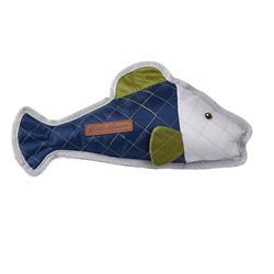 Eddie Bauer PET Quilted Nylon Fish Toy in Navy