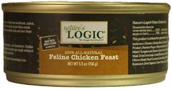 Nature's Logic Chicken Feline Feast - 5.5 oz cans Case of 24
