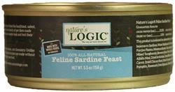 Nature's Logic Sardine Feline Feast - 5.5 oz cans - Case of 24