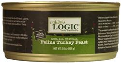 Nature's Logic Turkey Feline Feast - 5.5 oz cans - Case of 24