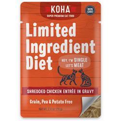 KOHA Limited Ingredient Diet Shredded Chicken Entrée in Gravy for Cats