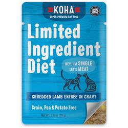 KOHA Limited Ingredient Diet Shredded Lamb Entrée in Gravy for Cats