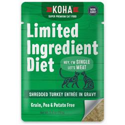 KOHA Limited Ingredient Diet Shredded Turkey Entrée in Gravy for Cats