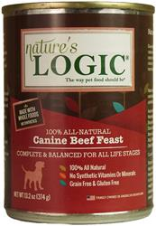 Nature's Logic Beef Canine Feast - 13.2oz Cans