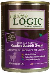 Nature's Logic Rabbit Canine Feast - 13.2 oz Cans