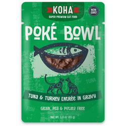 KOHA Poké Bowl Tuna & Turkey Entrée in Gravy for Cats
