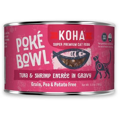 KOHA Poké Bowl Tuna & Shrimp Entrée in Gravy for Cats