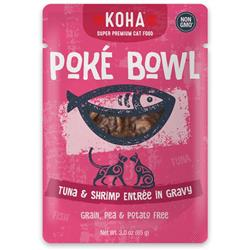 KOHA Poké Bowl Tuna & Shrimp Entrée in Gravy for Cats