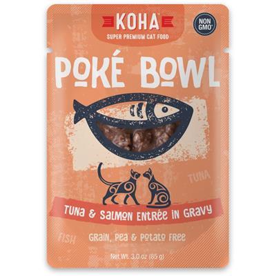 KOHA Poké Bowl Tuna & Salmon Entrée in Gravy for Cats
