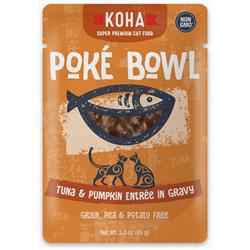KOHA Poké Bowl Tuna & Pumpkin Entrée in Gravy for Cats