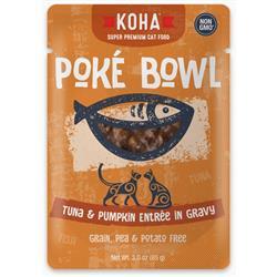 KOHA Poké Bowl Tuna & Pumpkin Entrée in Gravy for Cats