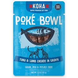 KOHA Poké Bowl Tuna & Lamb Entrée in Gravy for Cats