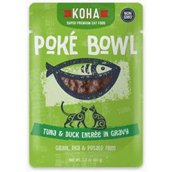KOHA Poké Bowl Tuna & Duck Entrée in Gravy for Cats