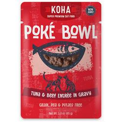 Poké Bowl Tuna & Beef Entrée in Gravy for Cats