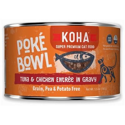 Poké Bowl Tuna & Chicken Entrée in Gravy for Cats