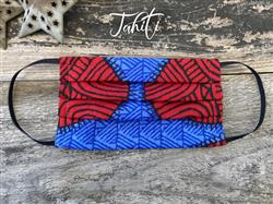 Reusable Fabric Face Mask with Pocket for Filter - Tahiti Design
