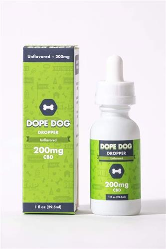 Unflavored Dope Dropper 200mg CBD Oil - 1 oz. Bottle