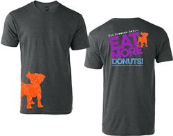 Eat More Donuts T-Shirt - Charcoal Grey