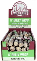 """Wild Eats® 6"""" WATER BUFFALO BULLY WRAP DOG CHEW 48 PIECE INDIVIDUALLY WRAPPED PDQ COUNTER DISPLAY JUST $1.63 EACH CHEW! (ALSO AVAILABLE INDIVIDUALLY #46025, 2 PACK #44090 OR 3 PACK #44067))"""