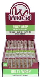 """Wild Eats® 11"""" WATER BUFFALO BULLY WRAP DOG CHEW 24 PIECE COUNTER DISPLAY PDQ: EACH ITEM JUST $3.24 EACH! (ALSO AVAILABLE INDIVIDUALLY #46026)"""