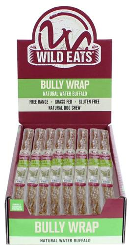 "Wild Eats® 11"" WATER BUFFALO BULLY WRAP DOG CHEW 24 PIECE COUNTER DISPLAY PDQ: EACH ITEM JUST $3.24 EACH! (ALSO AVAILABLE INDIVIDUALLY #46026)"