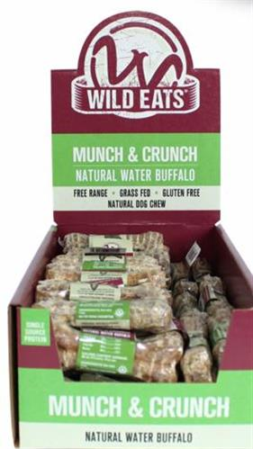 """Wild Eats® SMALL 4"""" MUNCH & CRUNCH DOG CHEWS COUNTER DISPLAY PDQ (CONTAINS 48 OF 46023)"""