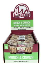 """Wild Eats® WATER BUFFALO LARGE 22 PIECE 6"""" MUNCH & CRUNCH PDQ COUNTER DISPLAY JUST $3.24 PER ITEM (ALSO AVAILABLE INDIVIDUALLY WRAPPED #46024)"""
