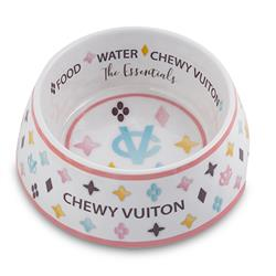 White Chewy Vuiton Bowl (Case of 2)