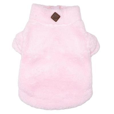 Pink Solid Fleece 1/4 Zip Pullover