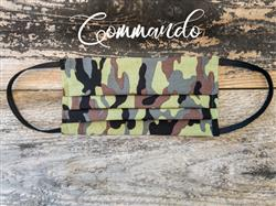 Reusable Fabric Face Mask with Pocket for Filter - Commando Design