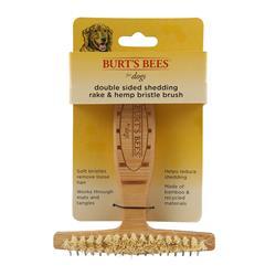 Burt's Bees Double Sided Shedding Rake & Hemp Bristle Brush