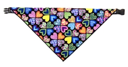 Multi Hearts  Bandana