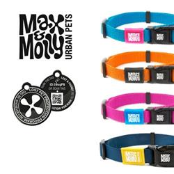 Max & Molly Simply Pure Collection, Durable Nylon Collars with Smart ID Tag