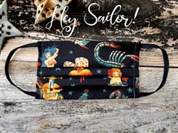 Reusable Fabric Face Mask with Pocket for Filter - Hey Sailor! Design