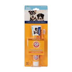 Arm & Hammer Complete Care Puppy Dental Kit – Includes: 2.5oz Toothpaste (Peanut Butter), Small Toothbrush, Microfiber Brush