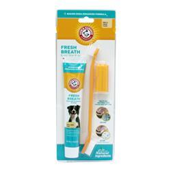 Arm & Hammer Fresh Breath Dental Kit for Dogs, Vanilla Ginger