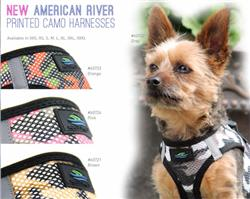 Camo American River Choke Free Soft Mesh Harnesses