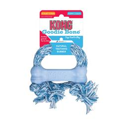 KONG® Puppy Goodie Bone™ with Rope Dog Toy - Assorted Colors
