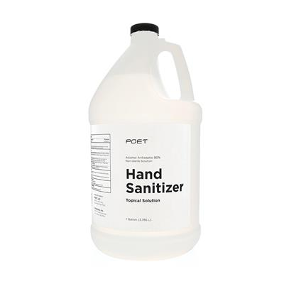 Poet Hand Sanitizer Topical Solution Gallon, 80% Alcohol