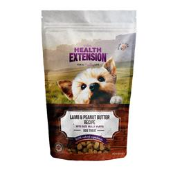 Health Extension Grain Free Bully Puffs Lamb & Peanut Butter Dog Treat 5oz