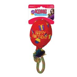 KONG® Occasions Birthday Balloon Red Dog Toy