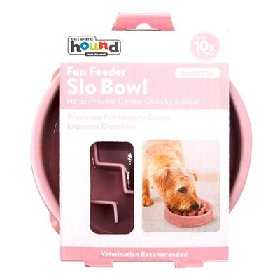 Fun Feeder Slo-Bowl - Pink Wave (X-Small)