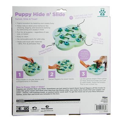 Nina Ottosson Puppy Hide N' Slide Interactive Treat Puzzle Dog Toy - Green