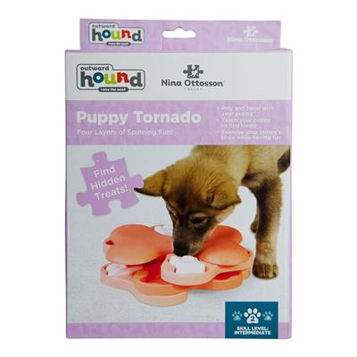 Nina Ottosson Puppy Tornado Interactive Treat Puzzle Dog Toy - Pink