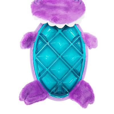 Bubble Palz Purple Dino Dog Toy - Medium