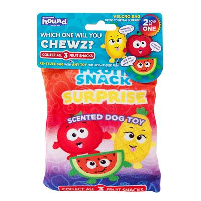 Surprise Fruit Snack Scented Dog Toys - Assorted Small