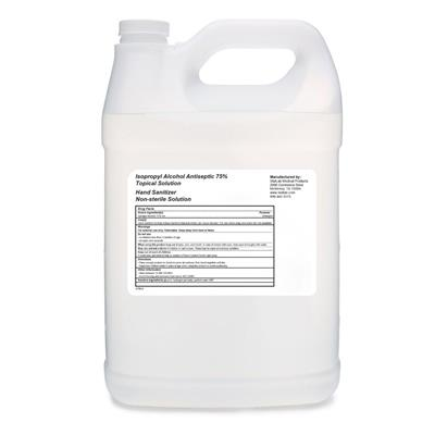 Liquid Sanitizer 75% Isopropyl Alcohol - 1 Gallon