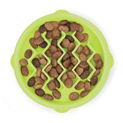 Cat Fun Feeder Slow Bowl - Green Wave XS
