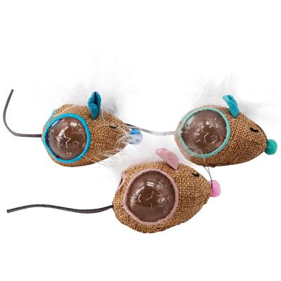 Mousin' Around Hide 'N Treat Cat Toys - 3 Pack